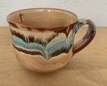 Vintage art Boho clay pottery mug Coffee Cup