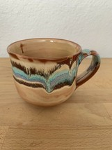 Vintage art Boho clay pottery mug Coffee Cup - £14.37 GBP