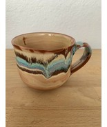 Vintage art Boho clay pottery mug Coffee Cup - $19.99