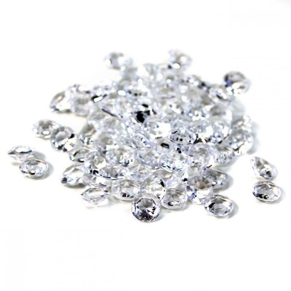 Primary image for 3200pc Clear Diamond Table Confetti Wedding Bridal Shower Decor 4 Carat 10mm