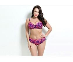 PLUS SIZE BIKINI 2pc Bathing suit women Swimming suits sexy swimwear XL 2X Rose - $39.99