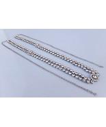 Ethnic Women Hip Waist Belt Silver South Indian Kundan Chain Kamr Bandh ... - $35.63