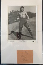 CORNEL WILDE ACTOR IN THE NAKED PREY SIGNED AUTOGRAPHED With Old Photo 8x10 - $25.00