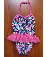 Childrens Place girls size 12-18 months Pink ruffle bathing suit Polka D... - $12.69