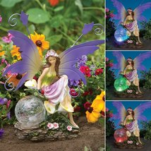 Outdoor Fairy Sculpture Color Changing Solar Garden Fairy by Bits And Pieces - $59.60