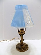 Aladdin Electric Boudoir Metal Table Lamp Blue & Clear Heavy Shade Shade (6) - $56.43