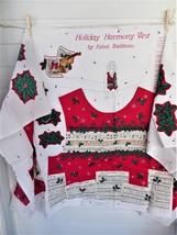 Cut And Sew Christmas Vest Panel Holiday Harmony Music Fabric Traditions 1 Panel - $12.00