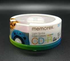 Memorex Cool Colors LightScribe CD-R 52x 700 MB 80 MIN 20 Pack New Seale... - $64.23