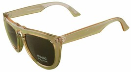 Quay 1466 Sunglasses Clear Frames Brown Lenses UV 400 PVC-Free Eyewear Shades