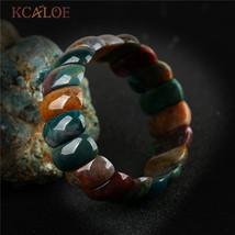 India Agat Onyx Natural Stone Chakra Bracelet Women Men Beaded Stretch B... - ₨1,851.00 INR