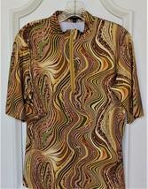 Stylish Golf & Casual Short Sleeve Vivid Green Animal Print Mock Polo Top  - $29.95