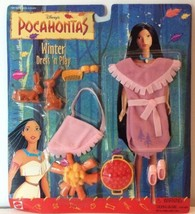 Pocahontas Winter Dress N Play Outfit Doll Accessories Disney Trees Pink... - $29.51