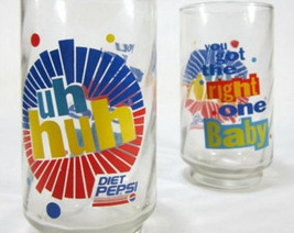 "Diet Pepsi (2) ""You Got The Right One, Baby! Uh Huh! "" Tumbler Soda Glasses - $24.99"