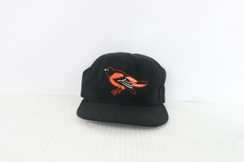 Vtg 90s New Era Diamond Collection Baltimore Orioles Fitted Hat Wool 6 5/8 Black - £31.75 GBP