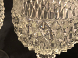 "Diamond Cut Stemware Drinking Glasses 6-1/2"" x 3-1/4"" (2) - $17.50"