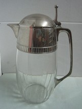 Antique Wmf Germany Metal Silvered And Crystal Art DÉco Pitcher. - $104.84