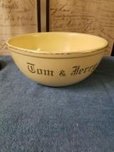 Vtg Tom & Jerry Punch Bowl Homer Laughlin I 40 N8 Butter Yellow Gold Trim  - $19.00