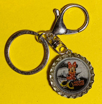 Minnie Mouse Coke Sprite Diet pepsi & more Soda beer cap Keychain image 2