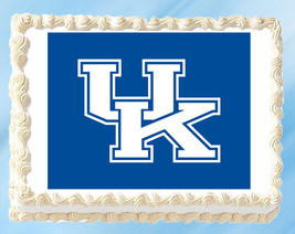 "Kentucky Wildcats Edible Image Topper Cupcake Cake Frosting 1/4 Sheet 8.5 x 11"" - $11.75"