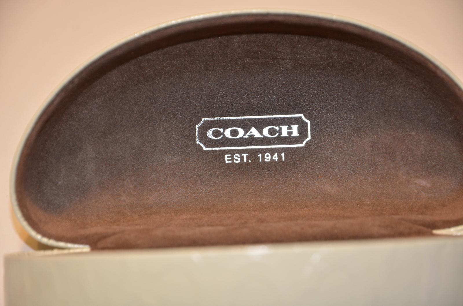 2d0dea64987f Coach Ivory White Clamshell Hard Sunglasses and 50 similar items
