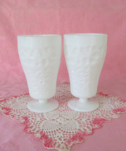 "LE Smith ""Dogwood"" Footed Southern Ice Tea Glasses 2 - $25.00"