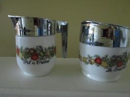 GEMCO Cream & Sugar Pot A Creme & Le Sucrier Corning Ware Spice Of Life ... - $20.57