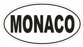 Monaco Oval Bumper Sticker or Helmet Sticker D2201 Euro Oval Country Code - $1.39+