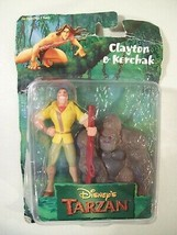 Vintage New Disney Clayton & Kerchak Gorilla Pvc Figures 1999 Mattel - $31.31