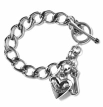JUICY COUTURE Silver Child's Mini Starter Charm Bracelet w/Heart Charm - $26.60