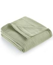 "New Ralph Lauren ""Classic"" King Size Green 100% Cotton Blanket - $49.45"