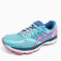 ASICS Womens 9.5 GT-2000 4 Running Shoes Blue T656N Low Top Pink Sneakers - $23.43