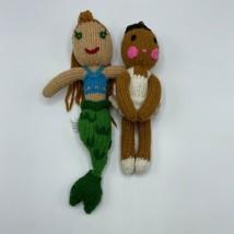 """Ecuadorian Clothing Company Dolls Crocheted 10"""" Ballerina 14"""" Mermaid 10... - $14.84"""