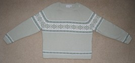 SONOMA LONG SLEEVE SWEATER GREEN WOMEN'S PETITES SIZE PXL NWOT - $9.89