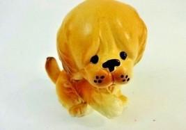 Sweet VTG Golden Retriever Puppy Dog Beggin Figurine Sitting Statue Cera... - $14.14