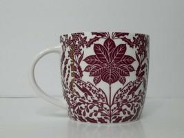 Starbucks Coffee Mug Holly Berry Purple Poinsettia 14 oz Cup 2017 - $28.00