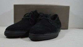 Vintage 90s New Keds Womens 7 M Wales Leather Lace Up Walking Shoes Black - £34.56 GBP