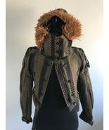 Y-09111483 New Burberry Prorsum Womens Raffia Runway Jacket Coats Size 4... - $1,305.59