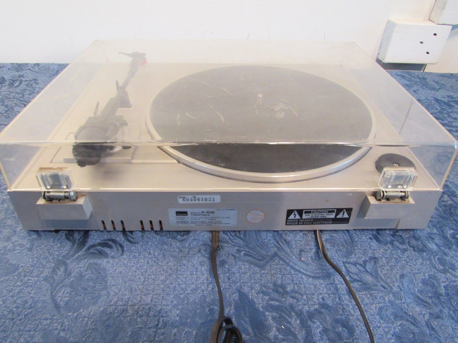 Sansui Automatic Direct Drive Turntable P-D10 Record Player SC-80