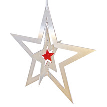 3D Aluminum and Crystal Star Ornament image 3