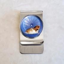 Hamster on Wheel Stainless Steel Money Clip - $20.00