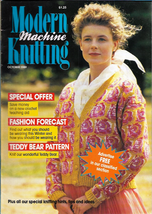 Modern Machine Knitting Oct 1989 Magazine Peruvian Intarsia design, Tedd... - $5.69