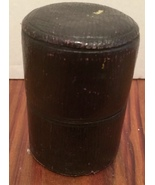 Vintage Leather Box with Glass Insert Medicine Cup or Travel Cup ? - $5.50