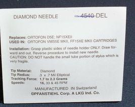 TURNTABLE STYLUS NEEDLE ORTOFON FF15E FF15XE FF103 D10E Mark II VMS5E image 3