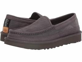 New UGG Dex Slippers Dark Grey Ugg UGGPURE Slippers Suede Leather NWOB S... - $69.95