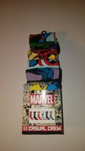 Marvel avengers mens casual crew socks fits shoe size 8 -12 6 pairs new ... - $23.95