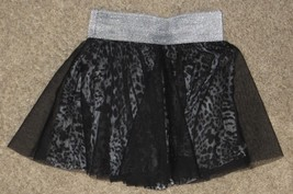 Lily Bleu Black Gray Tulle Leopard Skirt Size 4 - $8.59