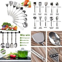 Kitchen Utensil Set – Stainless Steel Cookware Set –10 Piece Durable  Lo... - $49.99 CAD