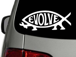 Evolve Evolution Fish Vinyl Decal Car Wall Window Sticker Choose Size Color - $1.80+