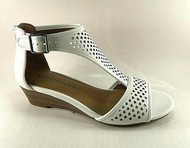 Aerosoles Sapphire White Low Wedge T-strap Sandals  - $69.00