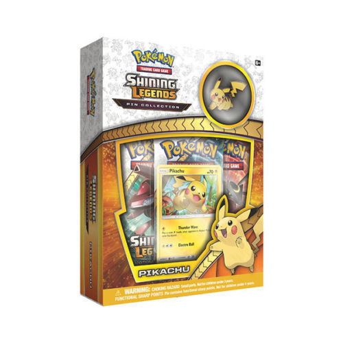 Pokemon Shining Legends Pikachu Pin Box and Pikachu EX Legendary Collection Box